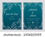 elegant wedding invitations set ... | Shutterstock .eps vector #1456025459