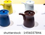 Multicolored Teacup On White...