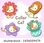 character cartoon of cat cute... | Shutterstock .eps vector #1456059479