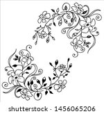 monochrome vector ornament ... | Shutterstock .eps vector #1456065206