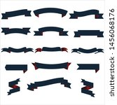 navy blue and red ribbon set... | Shutterstock .eps vector #1456068176
