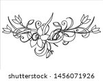 vector branch with flowers ... | Shutterstock .eps vector #1456071926