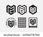 template logo letter mg package ... | Shutterstock .eps vector #1456078760
