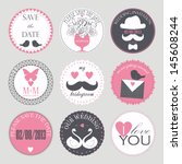 vector collection of decorative ... | Shutterstock .eps vector #145608244