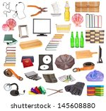 set of different household... | Shutterstock . vector #145608880