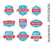 best seller badges vector set... | Shutterstock .eps vector #1456103636