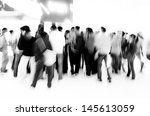 crowd audience people abstract... | Shutterstock . vector #145613059