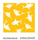 seamless pattern with abstract... | Shutterstock .eps vector #1456135439