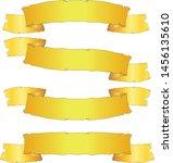 ribbon banner set gold old... | Shutterstock .eps vector #1456135610
