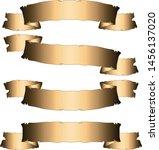 copper ribbons set old vintage... | Shutterstock .eps vector #1456137020
