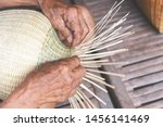 Weaving Bamboo Basket Wooden  ...
