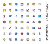miscellaneous icon set filled... | Shutterstock .eps vector #1456149689