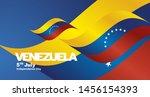 venezuela independence day flag ... | Shutterstock .eps vector #1456154393