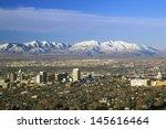 Skyline Of Salt Lake City  Ut...