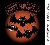 ghost  halloween  autumn  fall ... | Shutterstock .eps vector #1456165499