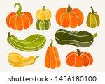 autumn mood. hand drawn vector... | Shutterstock .eps vector #1456180100