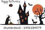 halloween vector illustration.... | Shutterstock .eps vector #1456184579