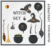 vector illustration of witch... | Shutterstock .eps vector #1456199819