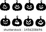 cartoon halloween pumpkin.... | Shutterstock .eps vector #1456208696