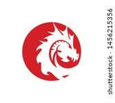 dragon of fire logo template | Shutterstock .eps vector #1456215356