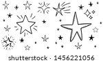 set of hand drawn stars. doodle ...   Shutterstock .eps vector #1456221056