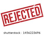 rejected rubber stamp. rejected ... | Shutterstock .eps vector #1456223696