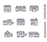 building icons   residential | Shutterstock .eps vector #145624528