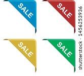 set of sale  corner ribbon... | Shutterstock .eps vector #1456253936