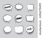retro empty comic bubbles and... | Shutterstock .eps vector #1456270499