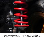Close Up Of Red Shock Absorber...