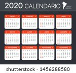 2020 calendar   spanish south... | Shutterstock .eps vector #1456288580
