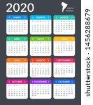 2020 calendar   spanish south... | Shutterstock .eps vector #1456288679
