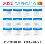 2020 calendar   portuguese...   Shutterstock .eps vector #1456288736