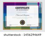 elegant certificate template...   Shutterstock .eps vector #1456294649