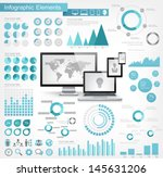 it industry infographic elements | Shutterstock .eps vector #145631206