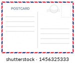 vector postcard with whie paper ... | Shutterstock .eps vector #1456325333