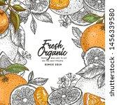 citrus colored frame design... | Shutterstock .eps vector #1456339580