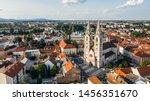 Aerial view of Wiener Neustadt Cathedral, Austria