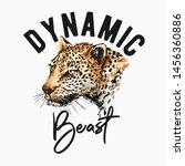 typography slogan with leopard... | Shutterstock .eps vector #1456360886