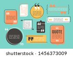 quote box and speech bubble... | Shutterstock .eps vector #1456373009