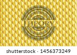 theory gold shiny badge. scales ... | Shutterstock .eps vector #1456373249