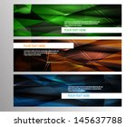 abstract banner set  | Shutterstock .eps vector #145637788