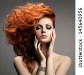 beauty portrait. hairstyle | Shutterstock . vector #145640956