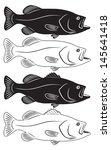 the figure shows sea bass | Shutterstock .eps vector #145641418
