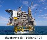 offshore oil platform on the... | Shutterstock . vector #145641424