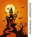 halloween background design... | Shutterstock .eps vector #1456422920