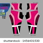 leggings pants vector for gym... | Shutterstock .eps vector #1456431530