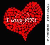 i love you.lovely romantic... | Shutterstock .eps vector #1456435283