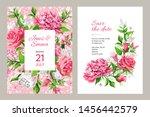 wedding invitation card. frame... | Shutterstock .eps vector #1456442579
