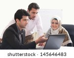 arab business woman in a... | Shutterstock . vector #145646483
